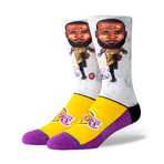 Lebron Big Head Socks // Multi (L)