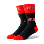Bulls Double Double Socks // Black (M)