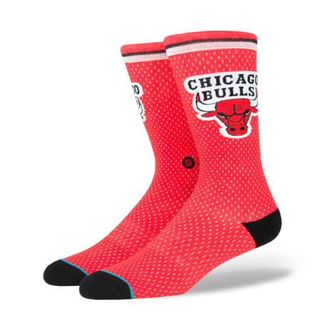 Bulls Jersey Socks // Red (M)