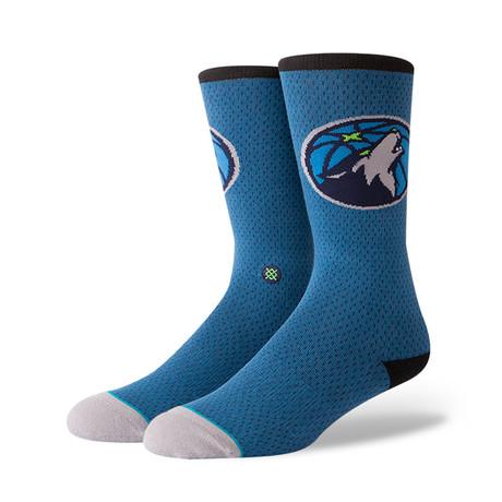 Timberwolves Jersey Socks // Blue (M)
