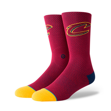Cavs Jersey 2 Socks // Burgundy (M)