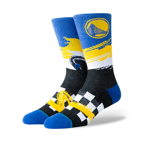 Warriors Wave Racer Socks // Black (M)