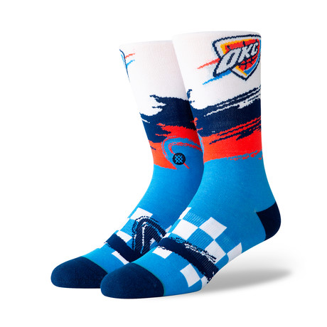 Thunder Wave Racer Socks // Blue (M)