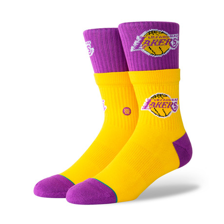 Lakers Double Double Socks // Yellow (M)