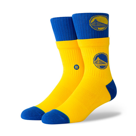 Warriors Double Double Socks // Yellow (M)