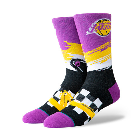 Lakers Wave Racer Socks // Purple (M)