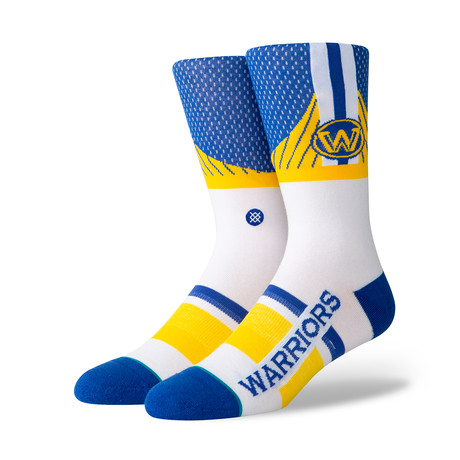 Warriors Shortcut Socks // Blue (M)