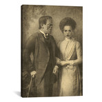 "Mr. And Mrs. Frankenstein // Terry Fan (18""W x 26""H x 0.75""D)"