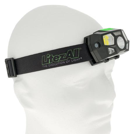 LitezAll Swype Rechargeable Sensor Headlamp // 200 Lumen 6 Mode + Memory