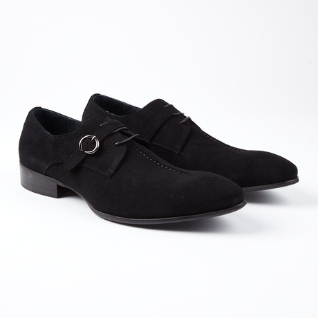 Wouter Dress Shoe With Lace And Monk Strap // Black (US: 6.5)