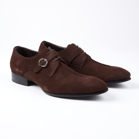 Wouter Dress Shoe With Lace And Monk Strap // Brown (US: 6.5)
