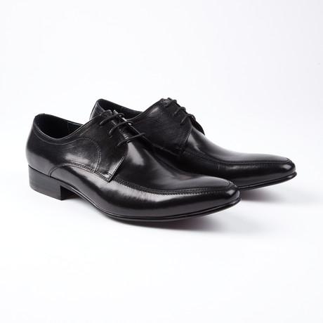 Paolo Lace Up Italian Design Dress Shoe // Black (US: 6.5)