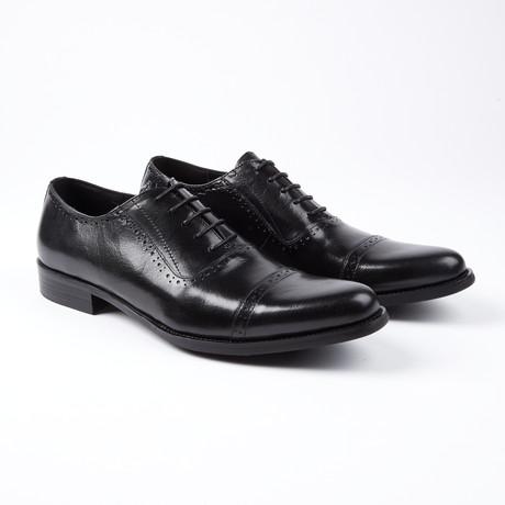 Bradley Cap Toe Oxfords // Black (US: 6.5)