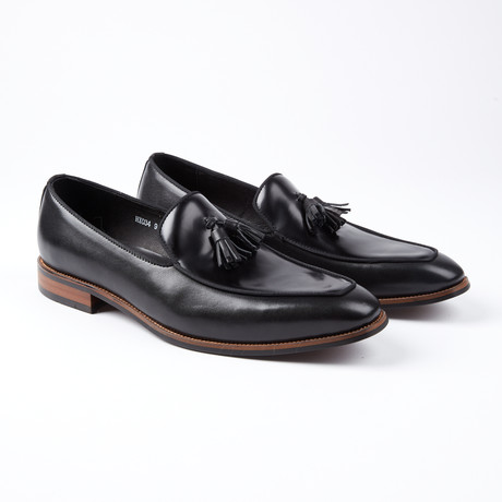 Jacques Tassel Slip-On Dress Shoes // Black (US: 6.5)