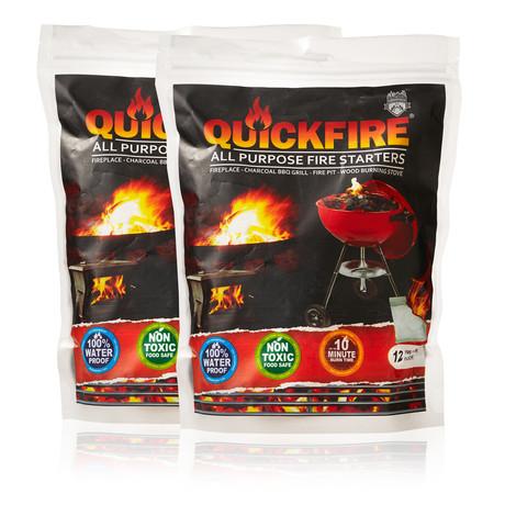 Quickfire All Purpose Firestarters (12pc Bag)