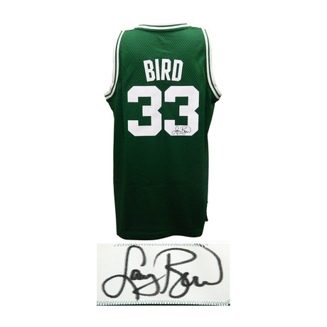 Larry Bird Signed Celtics Green Adidas Swingman Jersey