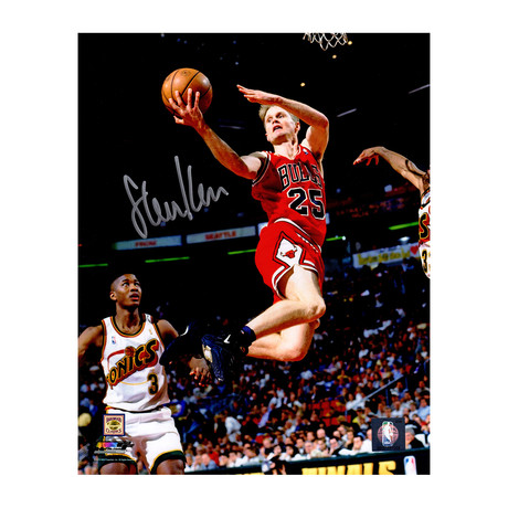 "Steve Kerr Signed Chicago Bulls Lay Up Action Photo // 8"" x 10"""