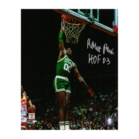"Robert Parish Signed Boston Celtics Action Dunk Photo with HOF'03 // 8"" x 10"""