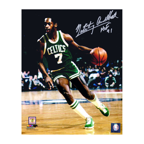 "Nate 'Tiny' Archibald Signed Boston Celtics Action Photo with HOF'91 // 8"" x 10"""