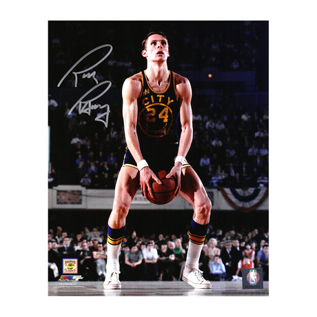 "Rick Barry Signed Golden State Warriors Under Hand Free Throw Photo // 8"" x 10"""