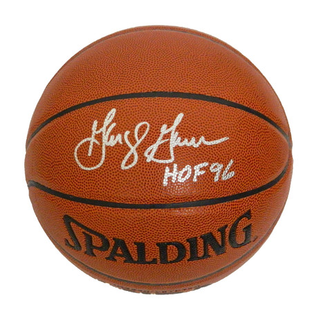 George Gervin Signed Spalding NBA Indoor/Outdoor Basketball with HOF'96