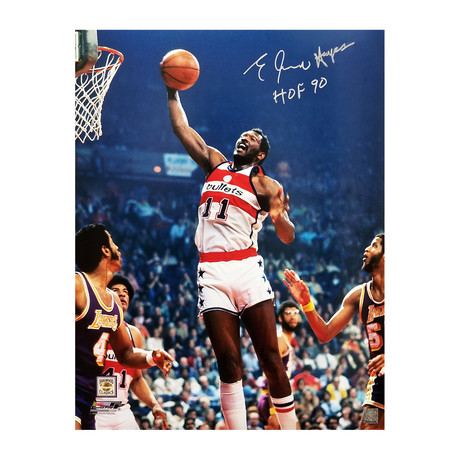"Elvin Hayes Signed Washington Bullets Action vs Lakers Photo with HOF'90 // 16"" x 20"""