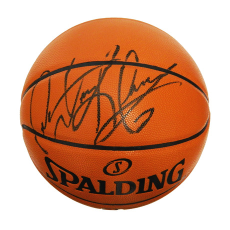 Dennis Rodman Signed Spalding Game Series Replica NBA Basketball
