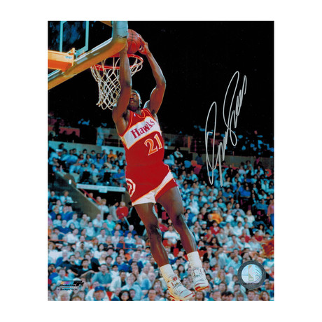 "Dominique Wilkins Signed Hawks Slam Dunk Photo // 8"" x 10"""