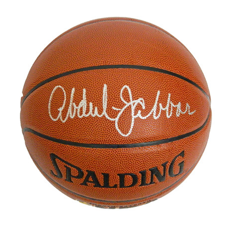 Kareem Abdul-Jabbar Signed Spalding NBA Indoor/Outdoor Basketball