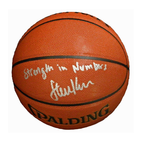Steve Kerr Signed Spalding NBA Indoor/Outdoor Basketball with Strength In Numbers