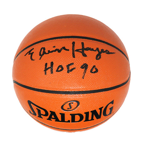 Elvin Hayes Signed Spalding Game Series Replica NBA Basketball with HOF'90