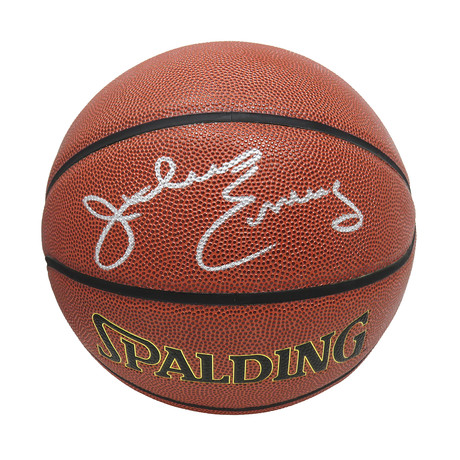 Julius Erving Signed Spalding NBA Indoor/Outdoor Basketball
