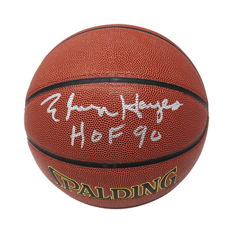 Elvin Hayes Signed Spalding NBA Indoor/Outdoor Basketball with HOF'90