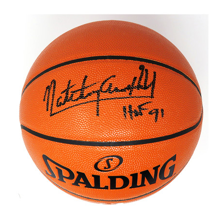 Nate 'Tiny' Archibald Signed Spalding NBA Game Series Replica Basketball with HOF '91