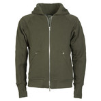 The PInnacle Full Zip Hoodie // Military Green (S)