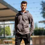 The Lionize Full Zip Hoodie // Dark Gray (XS)