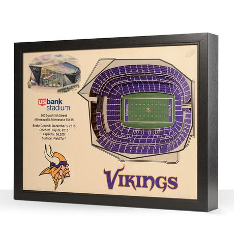 Minnesota Vikings // US Bank Stadium (5-Layer)