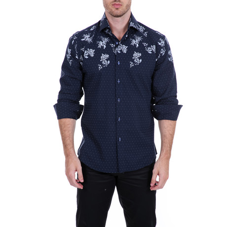 Button-Up // Navy (XS)