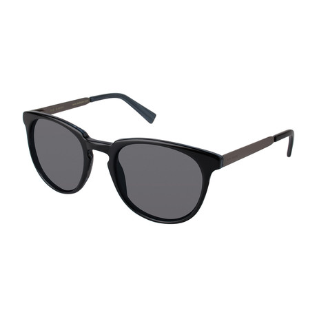Men's Tyree Round Polarized Sunglasses // Black