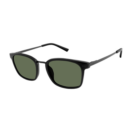 Erwin Square Polarized Sunglasses // Black