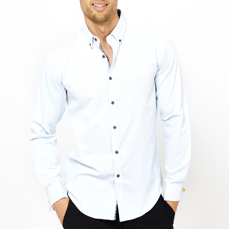 Christopher Long Sleeve Button-Up Shirt // Natural White (Small)
