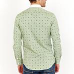 Luke Long Sleeve Button-Up Shirt // Olive Green + Black (Large)