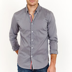 Josiah Long Sleeve Button-Up Shirt // Metallic Gray (Large)