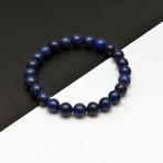 Lapis Lazuli Beaded Bracelet // Blue