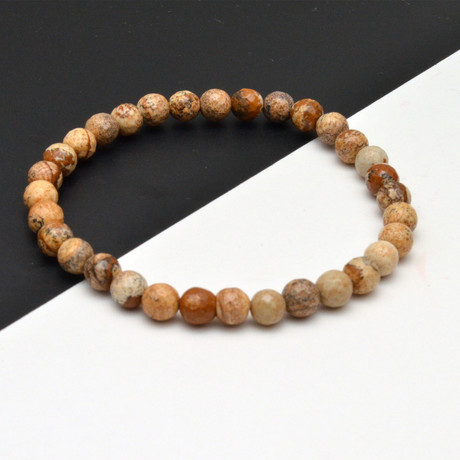 Stone Beaded Bracelet // Brown