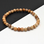 Stone Beaded Bracelet // Brown