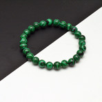Malachite Beaded Bracelet // Green