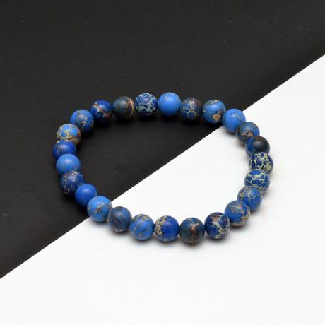 Ocean Beaded Bracelet // Blue