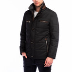 Lyon Overcoat // Black (Small)