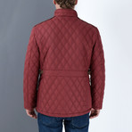 Adil Coat // Burgundy (Large)